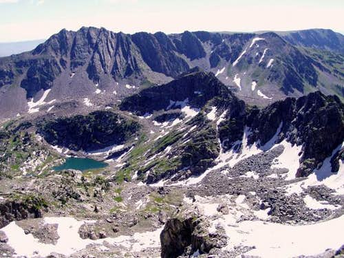 Mount Zirkel from the summit...