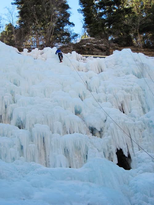 Ice Climbing in Ouray's South Park