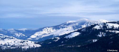 Mount Leona, Winter, Kettle River Range
