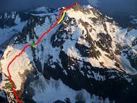 Price Glacier route overlay
