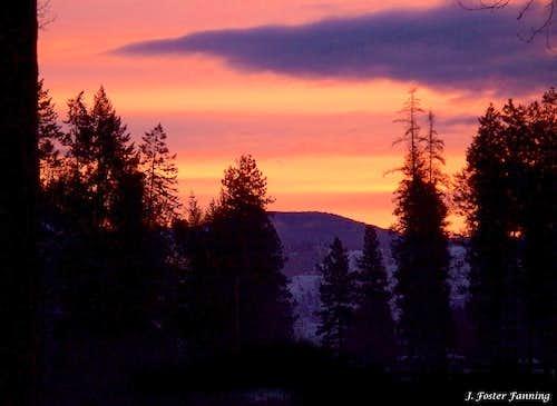 February Sunrise over the Kettle River Range, Okanogan Highlands