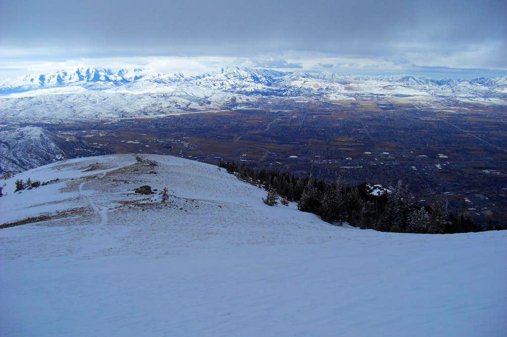 Looking west down the Draper Ridge near Enniss Peak.
