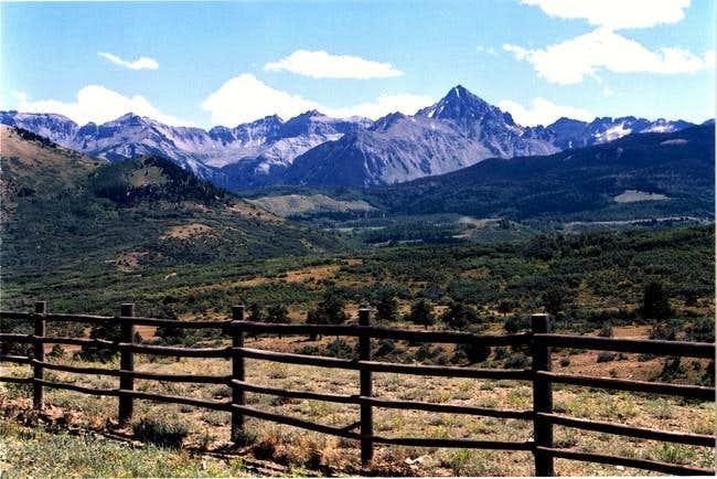 Mt. Sneffels looms large when...