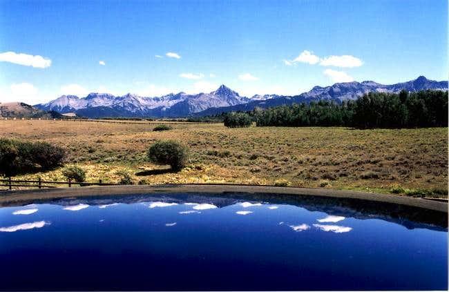 A cool effect of Mt. Sneffels...