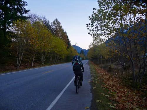 Biking Into the Mountains