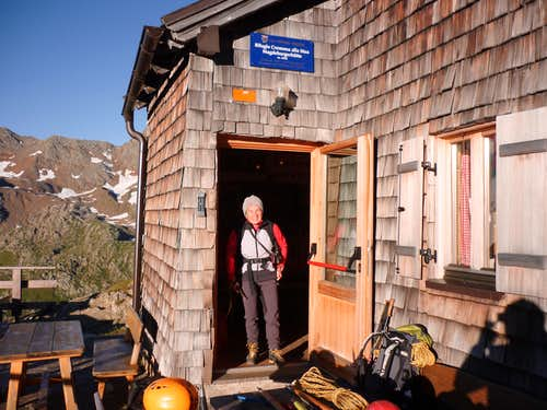 The start from Magdeburger Hut, a Sud Tirol jewel
