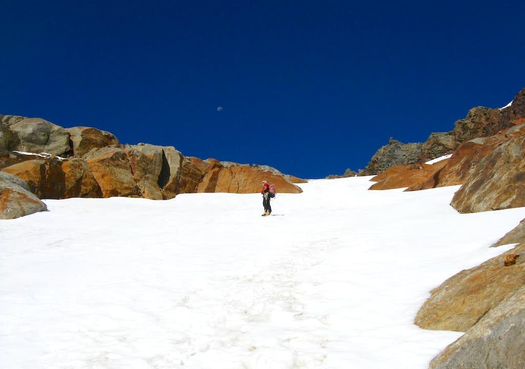 Schneespitze/Monte della Neve, the starting snow slopes