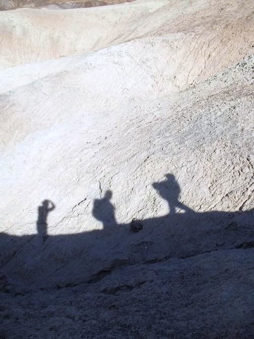 Our shadow heading to Zabriskie Point