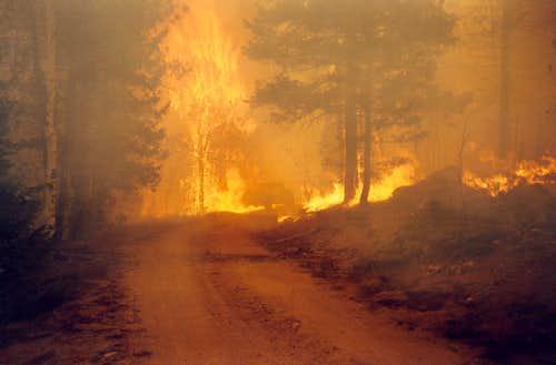 Burning Truck, Hayman Fire, 2002