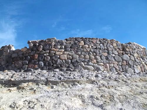 The stone wall of Zabriskie Point