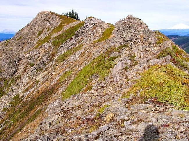 The summit ridge with St....