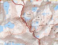 Keyhole Plateau topo map