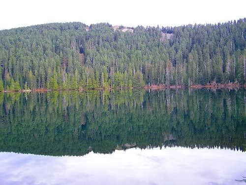 Wahtum Lake from near the...