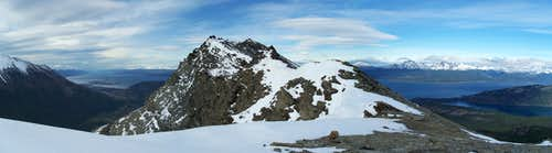 Cerro Guanaco summit ridge (view SE)