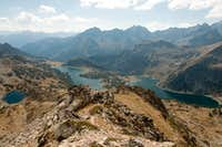 Lac d Aumar and Lac d Aubert