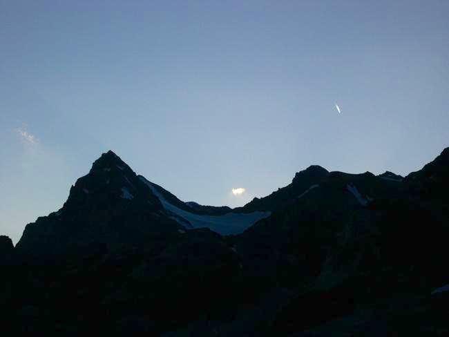 The silhouette of Cime di...