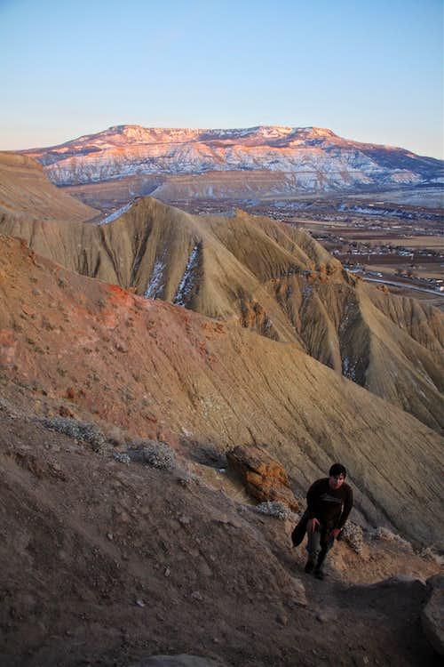 Hiking up Mt. Garfield