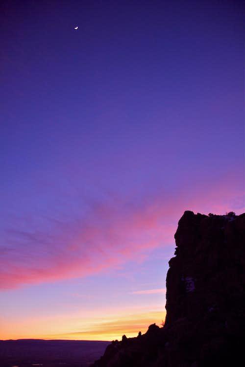 Sunset over Mt. Garfield