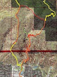 GPS track for Hastings/Bailey ridge