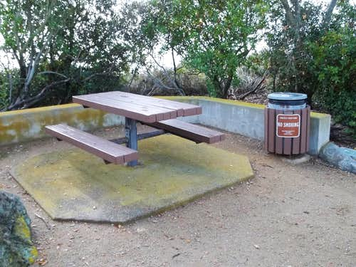 One of a couple of picnic tables