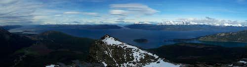 Cerro Guanaco summit view (SE)