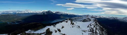 Cerro Guanaco summit view (NW)