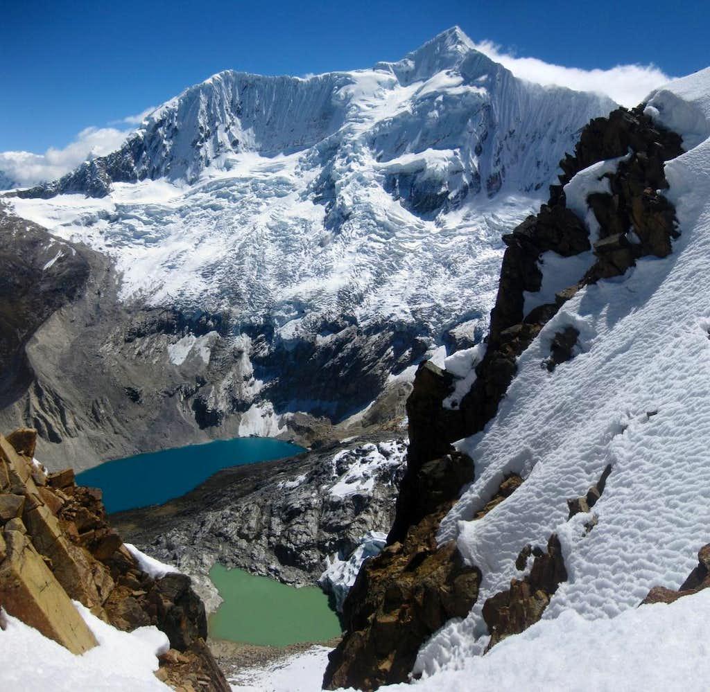 Nevado Palcaraju (6274m) <small>and Laguna Palcacocha (4566m)</small>