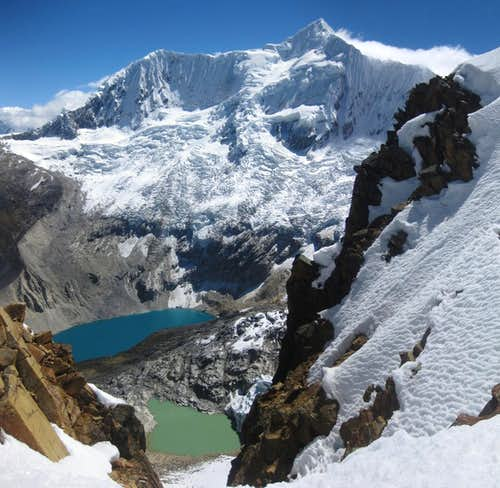 Nevado Palcaraju (6274m) <small>and Laguna Palcacocha (4566m)</small>