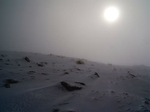 Foggy Twilight on Boott Spur
