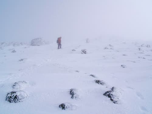 Fog and Snow on Boott Spur
