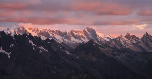 Alpenglow over the Cordillera Blanca