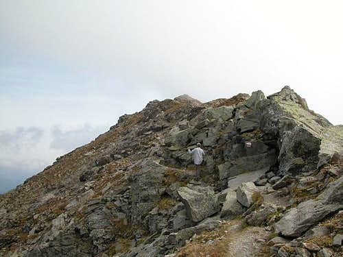 The Demut summit block, Sept...