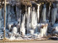 Icycles beside the road through Müglitz valley in Saxony