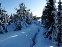 Above Altenberg and Cinovec during a period of extreme cold