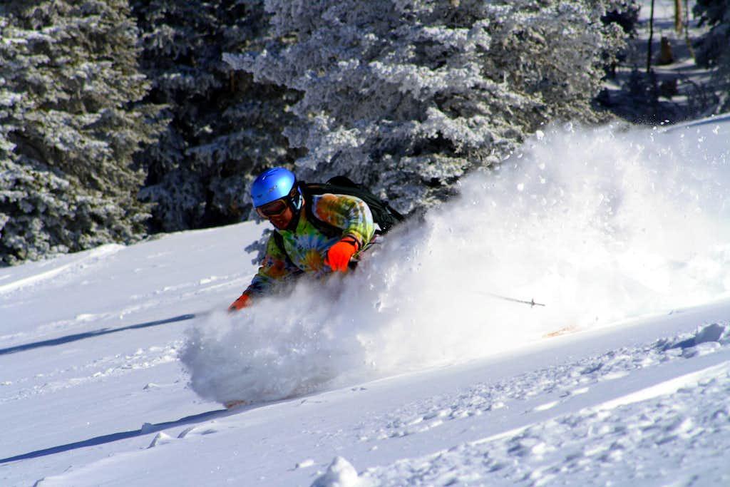 Troy skiing Beartrap