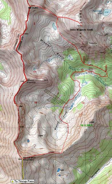 Emma Burr Mountain's Grand Slam route
