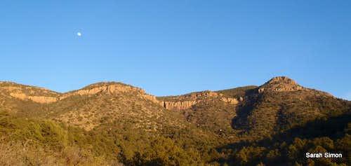 Apache Peaks and moonrise