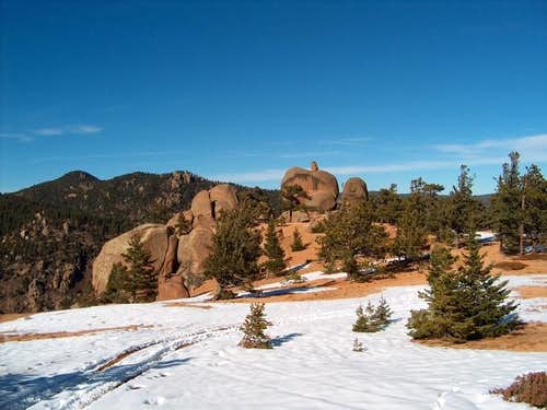 Gog rock with Mt. Manitou and...