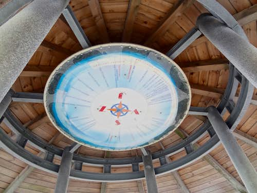 Ceiling orientation table on top of the outlook tower
