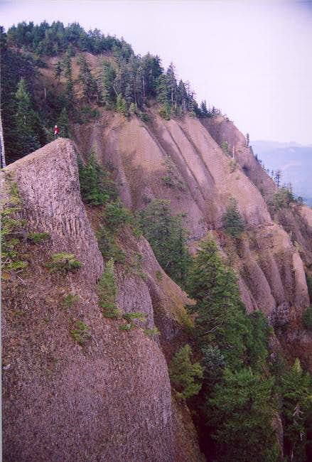 The NE facing cliffs on the...
