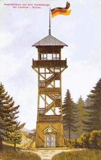 Former outlook tower on  Heidelkoppe