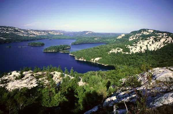 Looking out over the La Cloche.