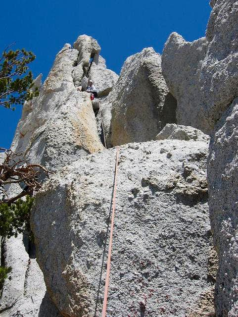 Here I am climbing the south...