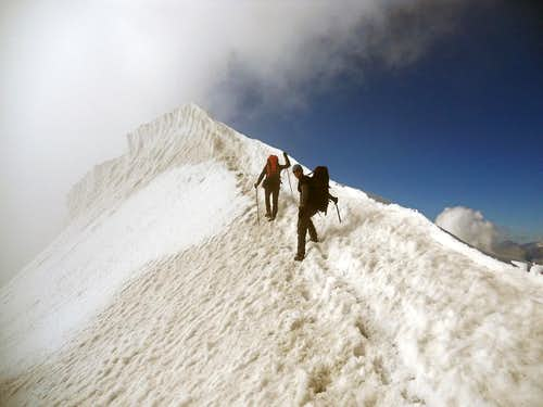 Ascent to Weissmies