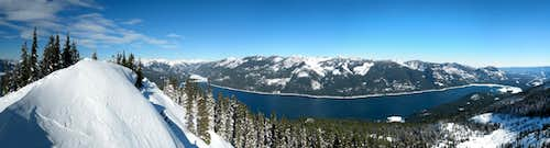 Kachees Lake Panoramic from Amabilis Mountain