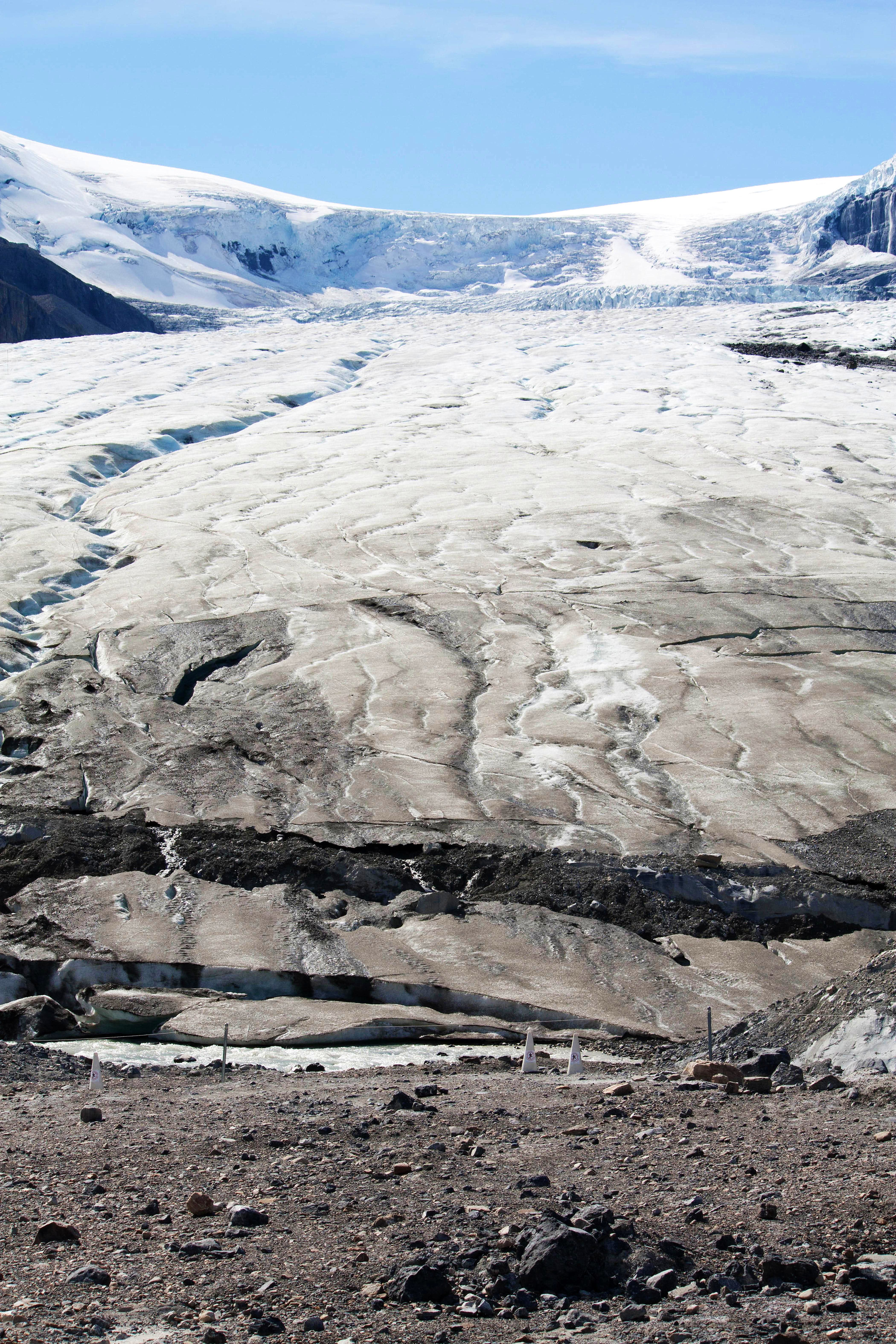 Hike to Toe of Athabasca Glacier