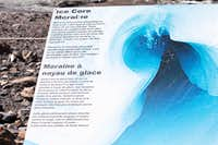 Ice Core Moraine Sign - Why the blue ice?