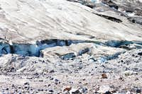 Crevasse at the Toe of the Glacier