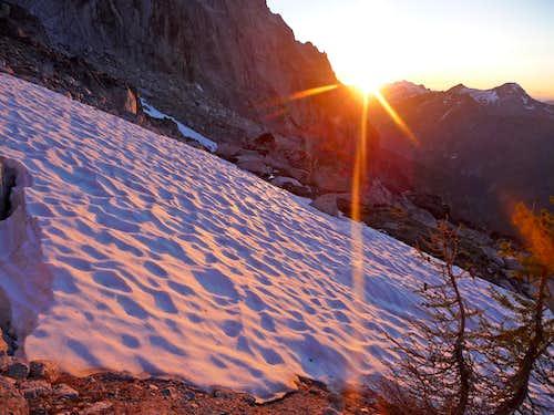 Sunset from Aasgard Pass
