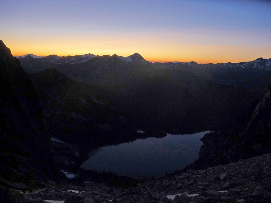 Evening over Colchuck Lake